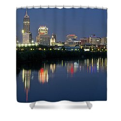 Indianapolis Night Shower Curtain
