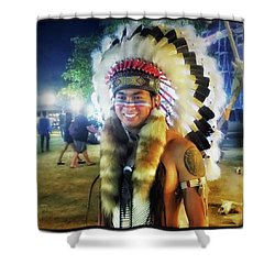 Shower Curtain featuring the photograph Indians Invade Thailand. Cowboys Too by Mr Photojimsf