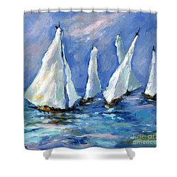 Indigo Seas Shower Curtain