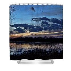 Shower Curtain featuring the photograph Indigo Skies by Cricket Hackmann
