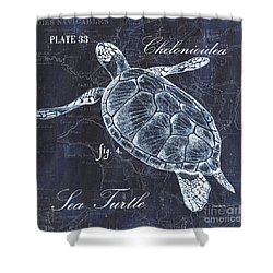 Indigo Verde Mar 2 Shower Curtain by Debbie DeWitt