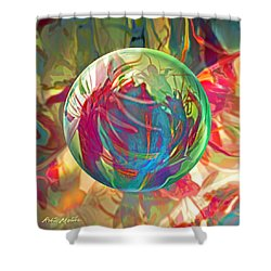 Shower Curtain featuring the painting Indigofera Tinctorbia by Robin Moline