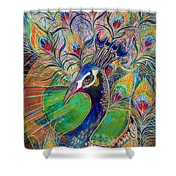 Confidence And Beauty- Individuality Shower Curtain by Leela Payne