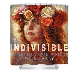 Shower Curtain featuring the glass art Indivisible by Mia Tavonatti