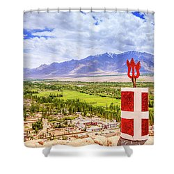 Shower Curtain featuring the photograph Indus Valley by Alexey Stiop