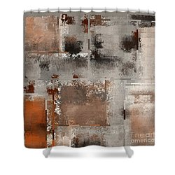 Industrial Abstract - 01t02 Shower Curtain