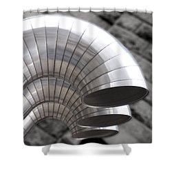 Industrial Air Ducts Shower Curtain