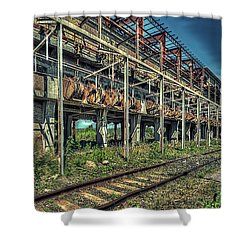 Industrial Archeology Railway Silos - Archeologia Industriale Silos Ferrovia Shower Curtain