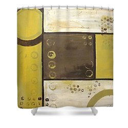 Industrial Circles No.2 Shower Curtain