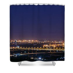 Industrial City Shower Curtain