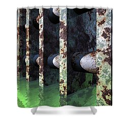 Industrial Disease Shower Curtain by Richard Rizzo