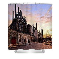 Industrial Landmark Shower Curtain