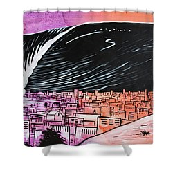 Shower Curtain featuring the painting Inescapable Love by Nathan Rhoads