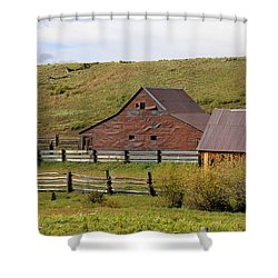 Infamous Ranch - True Grit Shower Curtain by Marta Alfred