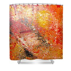 Shower Curtain featuring the painting Inferno by Jacqueline Athmann