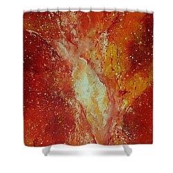 Inferno Shower Curtain by Tamyra Crossley