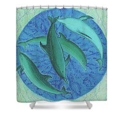 Infinity 5 Forever Peace Shower Curtain