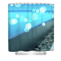Shower Curtain featuring the photograph Infinity Pool by Atiketta Sangasaeng