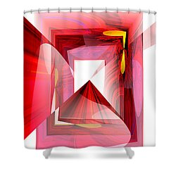 Infinity Tunnel  Shower Curtain by Thibault Toussaint