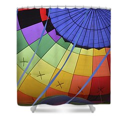 Inflation Time Shower Curtain