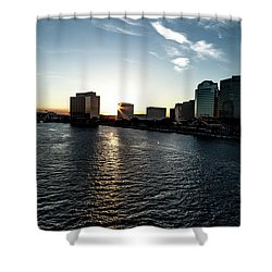 Shower Curtain featuring the photograph Influential Light by Eric Christopher Jackson