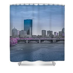 Infrared Boston Shower Curtain