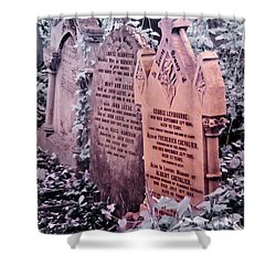 Music Hall Stars At Abney Park Cemetery Shower Curtain by Helga Novelli