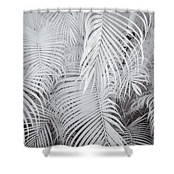 Infrared Palm Abstract Shower Curtain by Adam Romanowicz