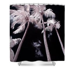 Infrared Palm Trees Shower Curtain by Adam Romanowicz