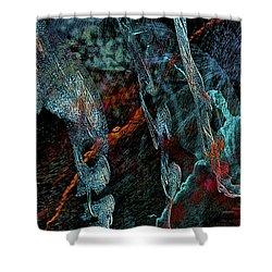 Inhabited Space Shower Curtain by Alex Galkin