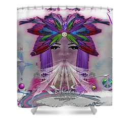 Shower Curtain featuring the digital art Inhaling Exhaling Peace by Barbara Tristan