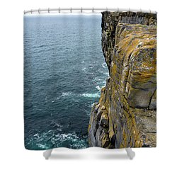 Shower Curtain featuring the photograph Inishmore Cliff And Dun Aengus  by RicardMN Photography