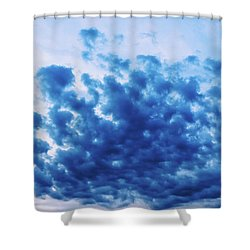 Shower Curtain featuring the photograph Ink Blot Sky by Colleen Kammerer