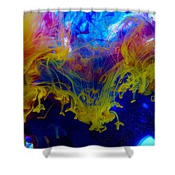 Ink Explosion 9 Shower Curtain by Lilia D