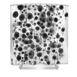 Ink Flowers Shower Curtain