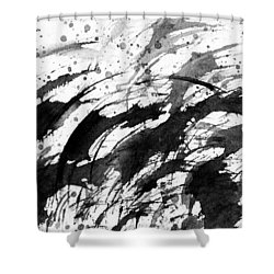 Ink Waves Shower Curtain