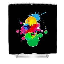 Inkblots T-shirt Shower Curtain by Herb Strobino