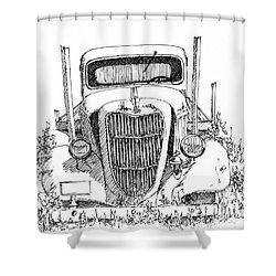 Inktober 2017 No 3 Shower Curtain