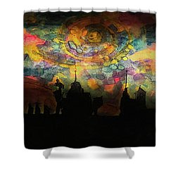 Inky Inky Night II Shower Curtain