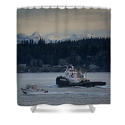 Shower Curtain featuring the photograph Inlet Crusader by Randy Hall