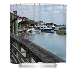 Inlet Fishing Fleet Shower Curtain