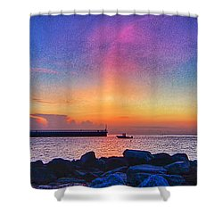 Inlet Sunrise Shower Curtain