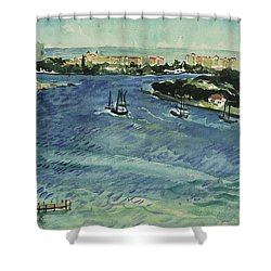 Inlet Shower Curtain