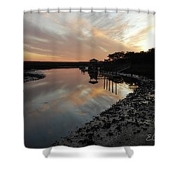 Inlet Sunset Shower Curtain