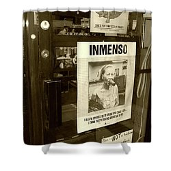 Inmenso Cohiba Shower Curtain by Debbi Granruth