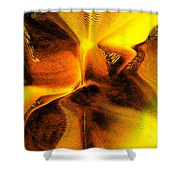 Shower Curtain featuring the digital art Inner Changes by Yul Olaivar