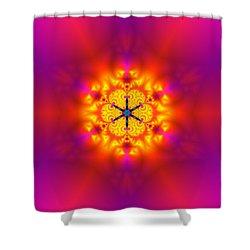 Inner Comet Shower Curtain by Robert Thalmeier