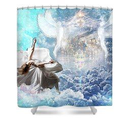 Inner Courts Shower Curtain by Dolores Develde