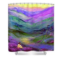 Inner Flame, Meditation Shower Curtain