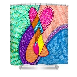 Inner Heart - V Shower Curtain